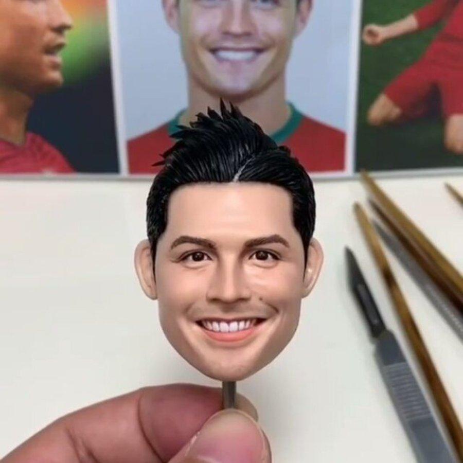 Modelo de arcilla de Cristiano Ronaldo por Silves Terdong