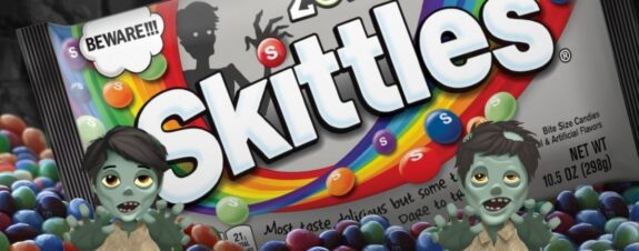 Skittles Zombie, dulces para Halloween