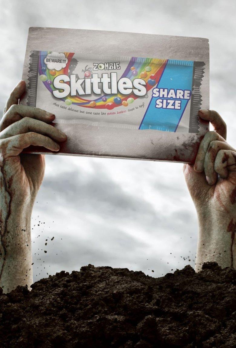 Skittles Zombie, dulces para Halloween