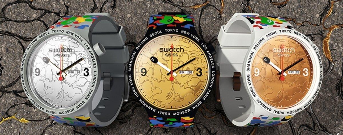 Swatch y Bape presentan colección de relojes