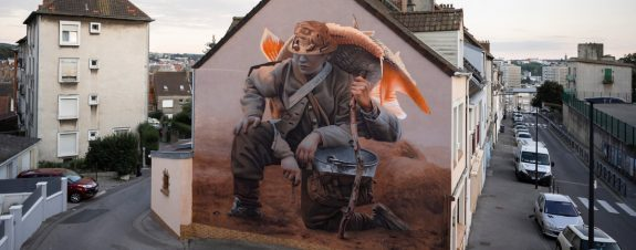Telmo Miel y su nuevo mural en Francia