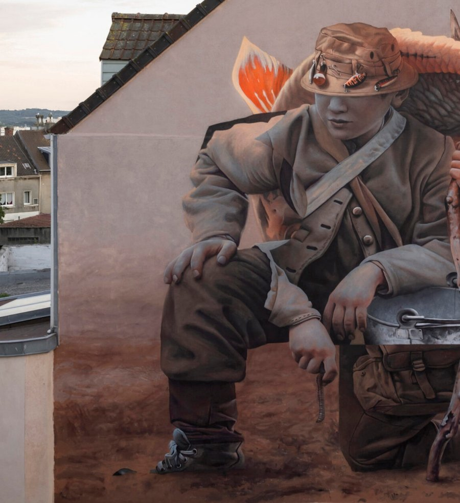"""Mural """"Le Pêcheur"""" de Telmo Miel"""