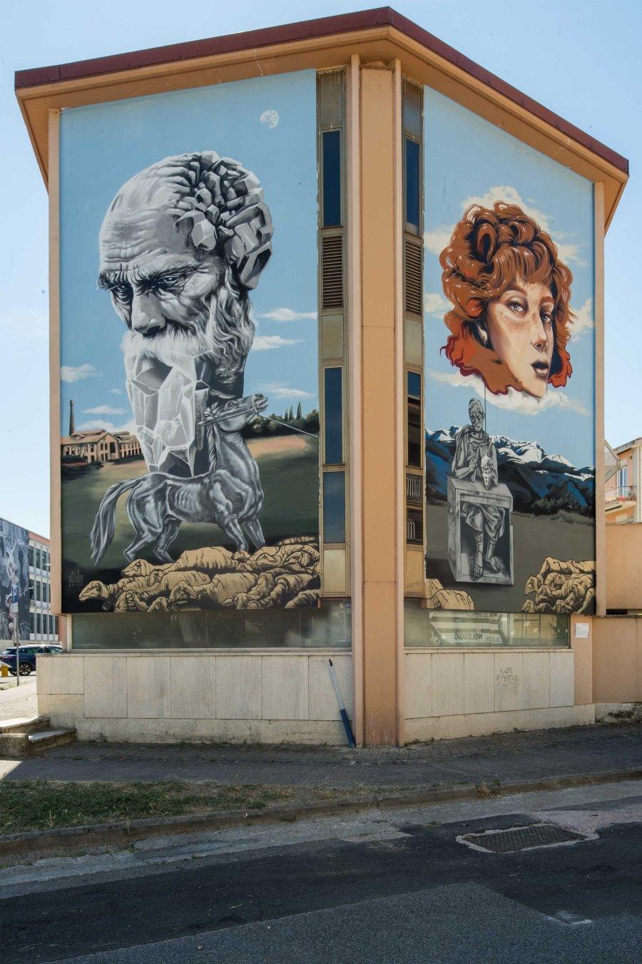 Trame Project y los murales de Snow, Wrong y Ale Senso en Rieti