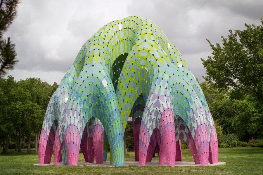 """Vaulted Willow"" escultura por Marc Fornes"