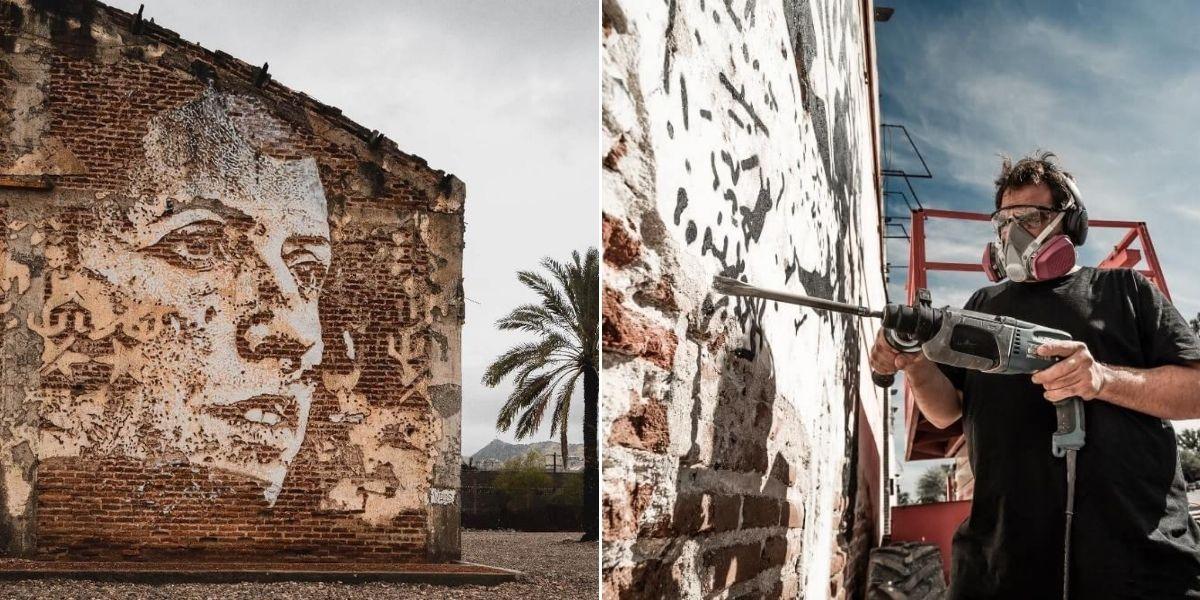 Obra de Vhils en México