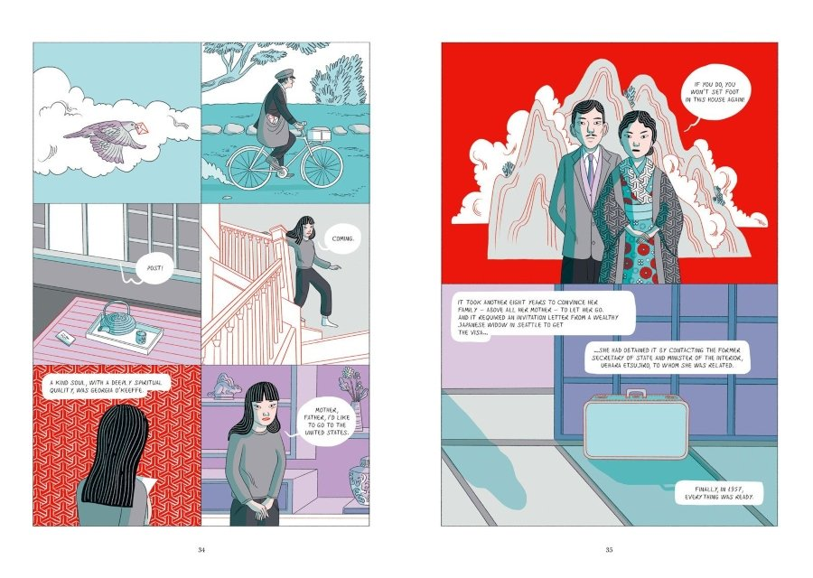 "Escenas de ""Kusama: A Graphic Biography"""