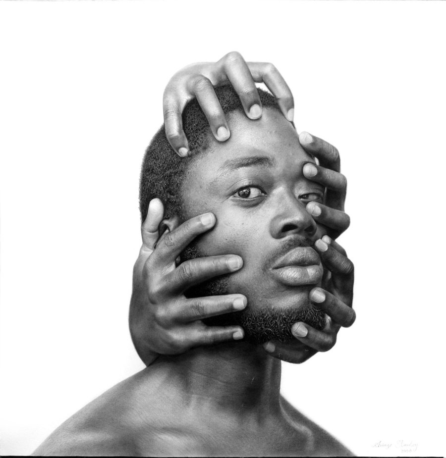 Mindless #3_Charcoal and graphite on paper_28' x 27.5'