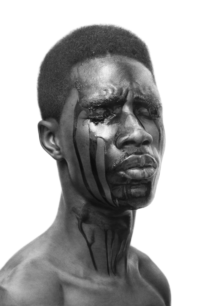 Arinze Stanley: The Machine Man #6_Charcoal and graphite on paper_29.3_ x 27.5_