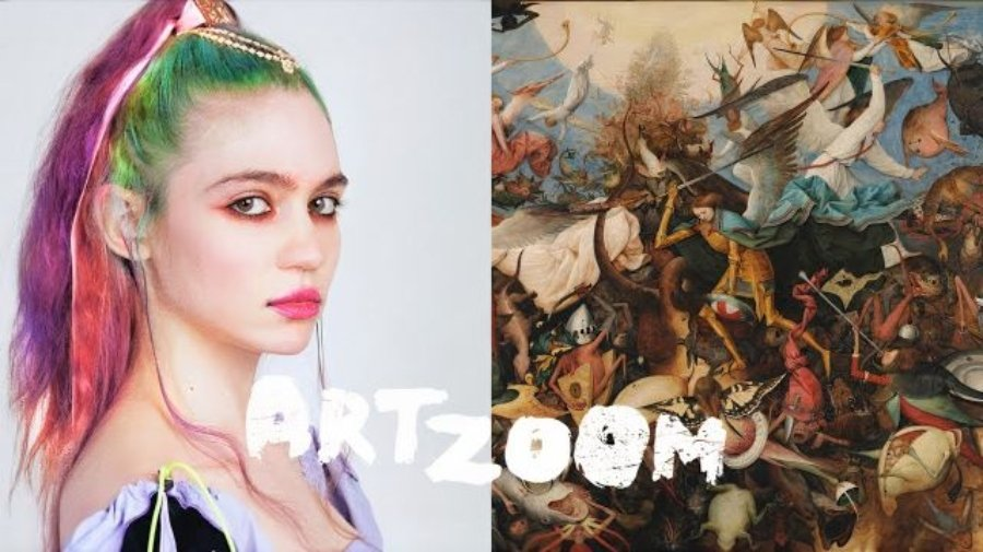 Grimes como parte de Art Zoom de Google Arts & Culture