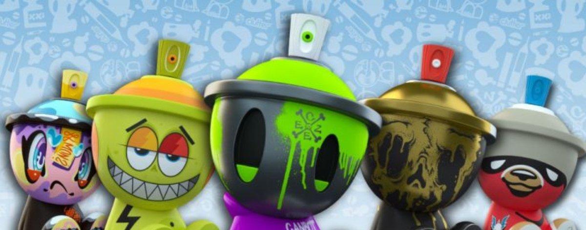 Canbot Blindbox, los art toys inspirados en el graffiti