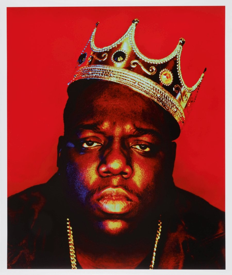 "Barron Claiborne, Notorious B.I.G. as the ""K.O.N.Y (King of New York)"" (1997)."