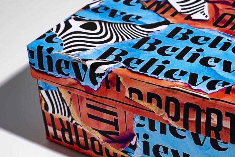 Craig Black creó cajas tipográficas para sneakers