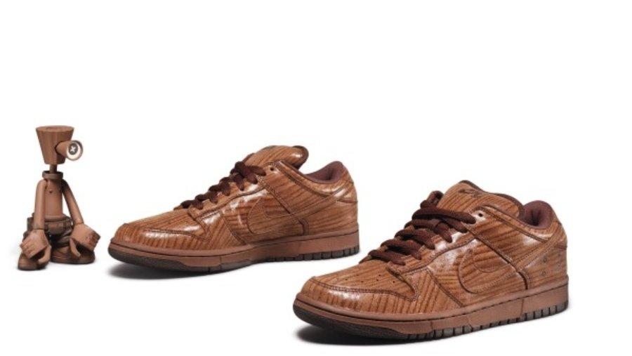 "Nike Dunk Low Pro SB ""Gardener Wood"" de Michael Lau."