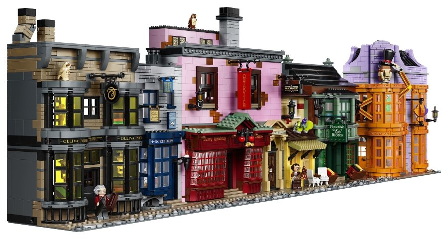 Aspecto del callejón Diagon en Lego