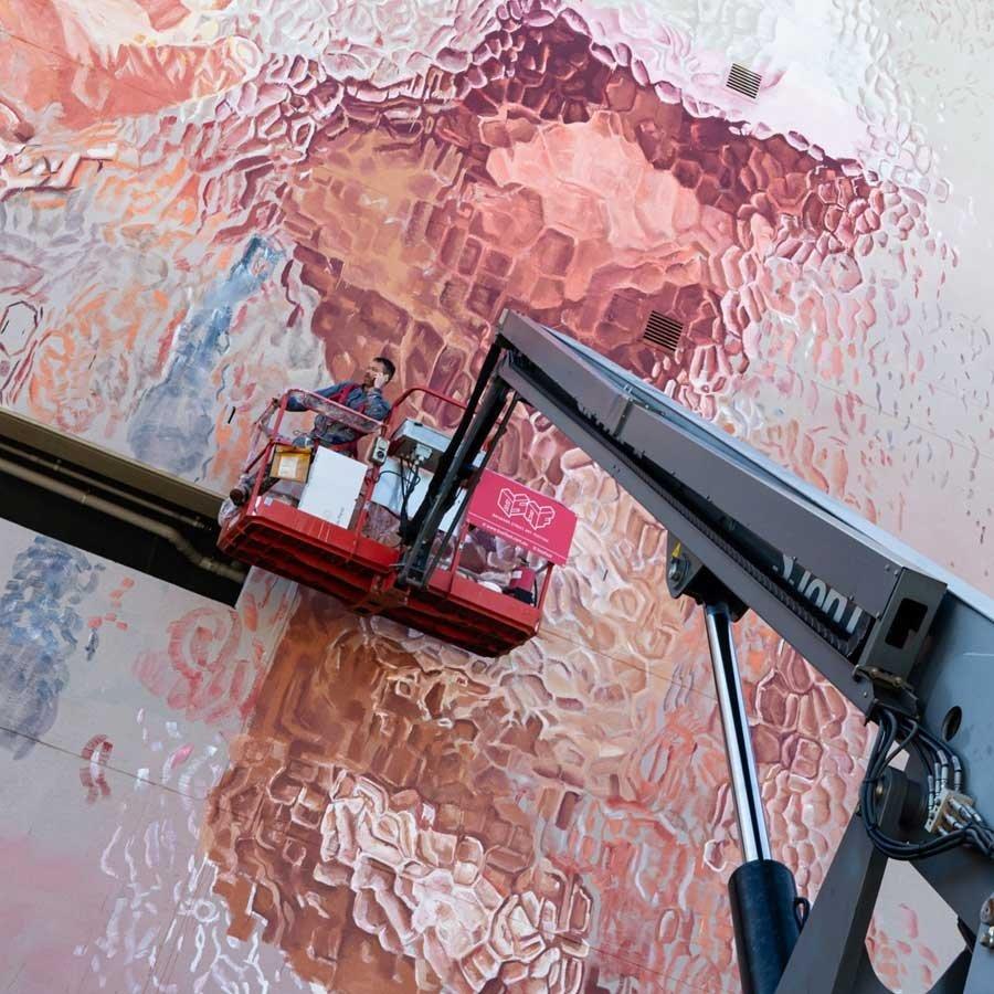 Mural por Fintan Magee en Australia
