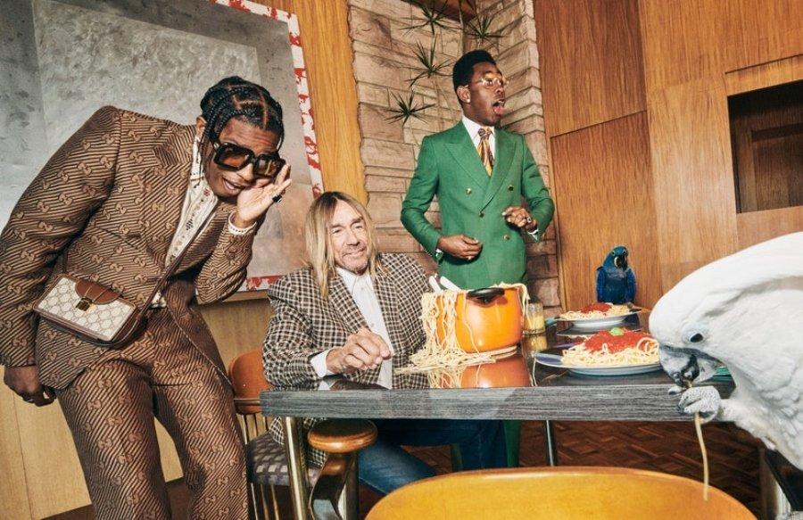 Iggy Pop, Tyler, the Creator y A$ap Rocky en lo nuevo de Gucci Tailoring