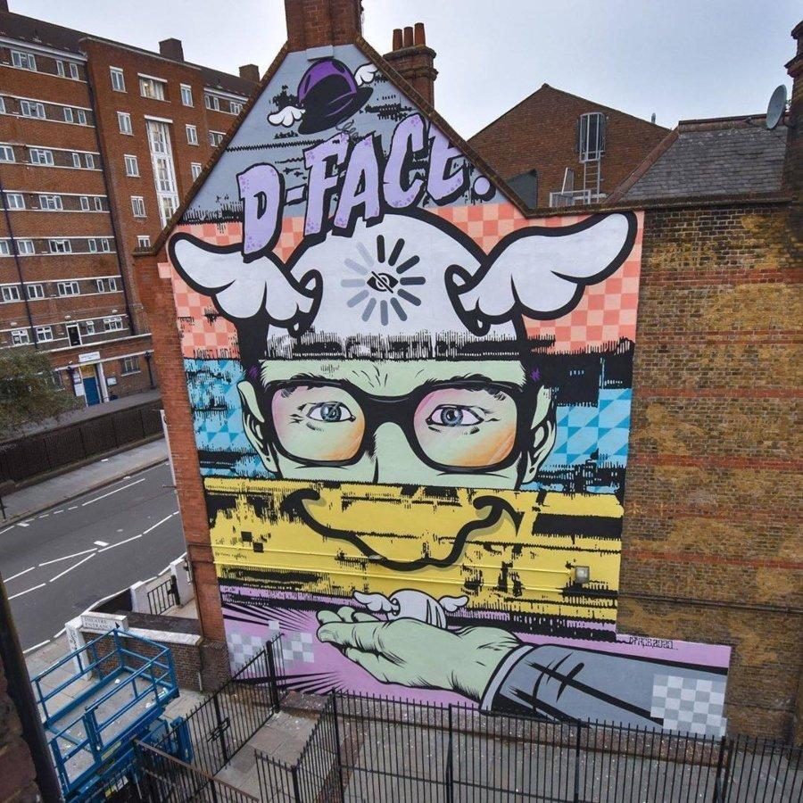 Los murales del mes de septiembre por D*Face en Londres