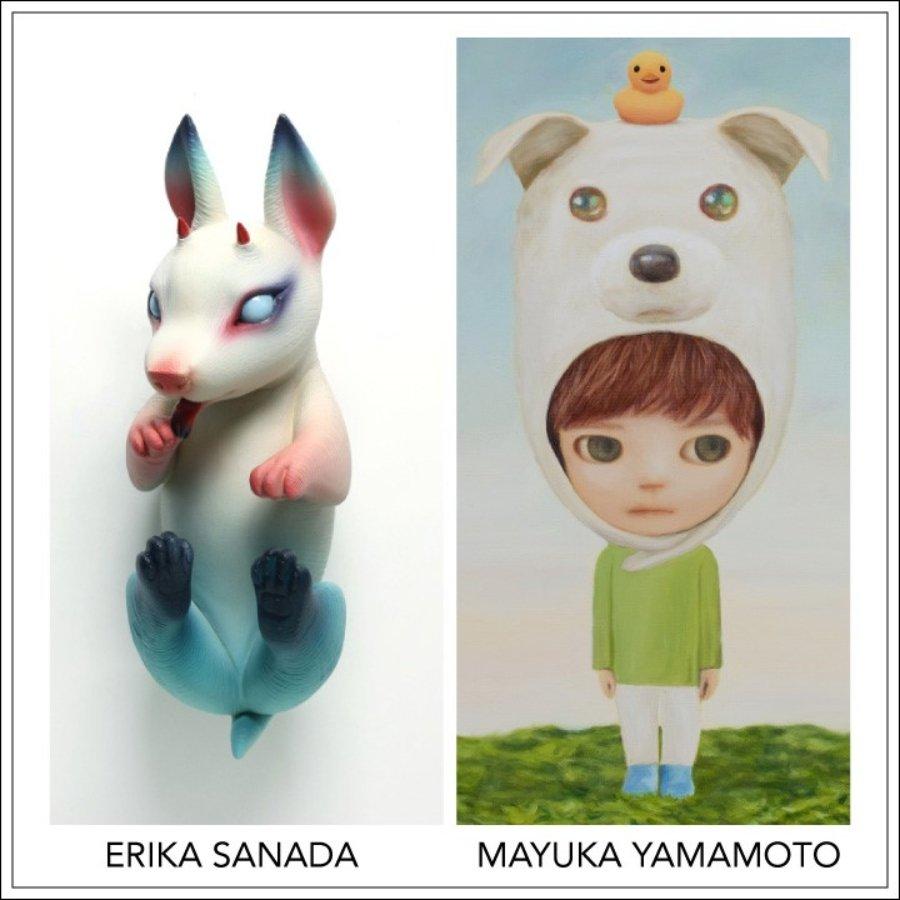 Escultura de Erika Sanada y Pintura de Mayuka Yamamoto