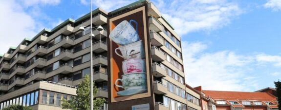Leon Keer y su mural 3D con realidad aumentada