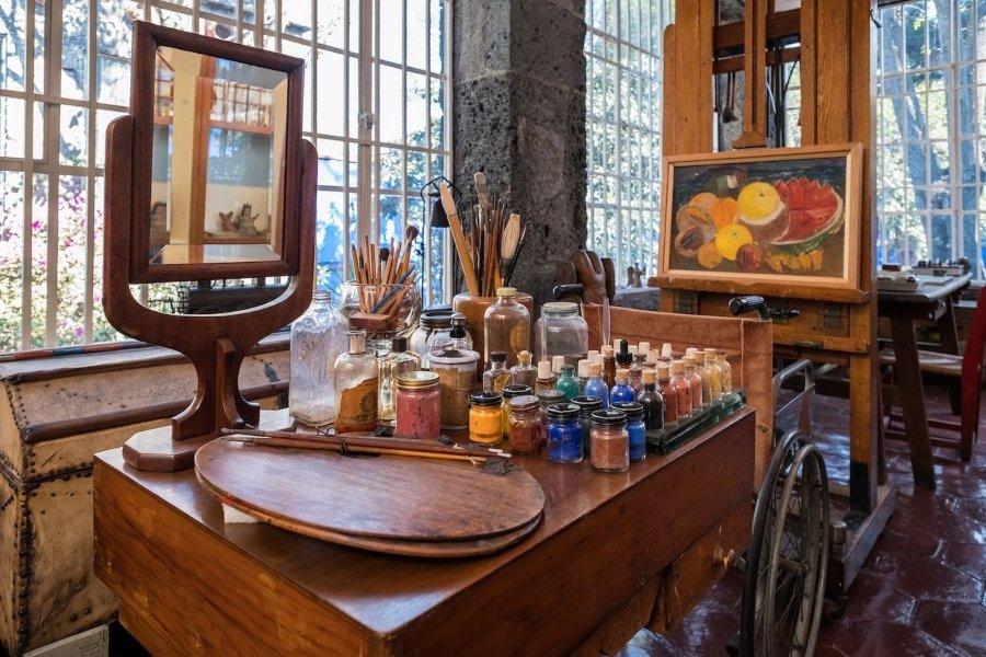 Estudio de Frida Kahlo en la casa de Coyoacán