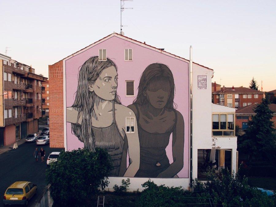 Mural de Lidia Cao para Parees Festival 2020