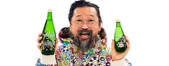 Takashi Murakami y Perrier juntos en colaboración