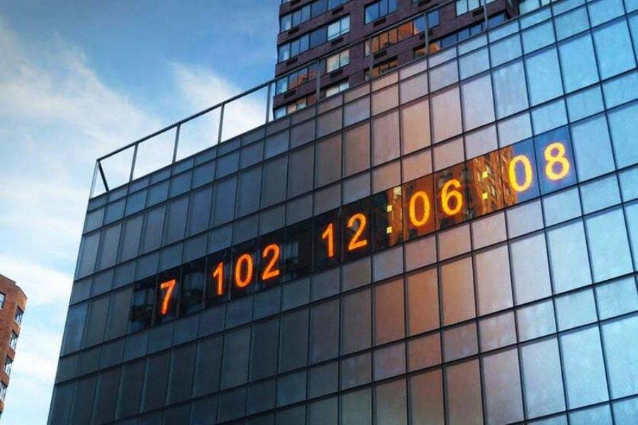 Reloj de Nueva York cuenta el tiempo para el desastre climático
