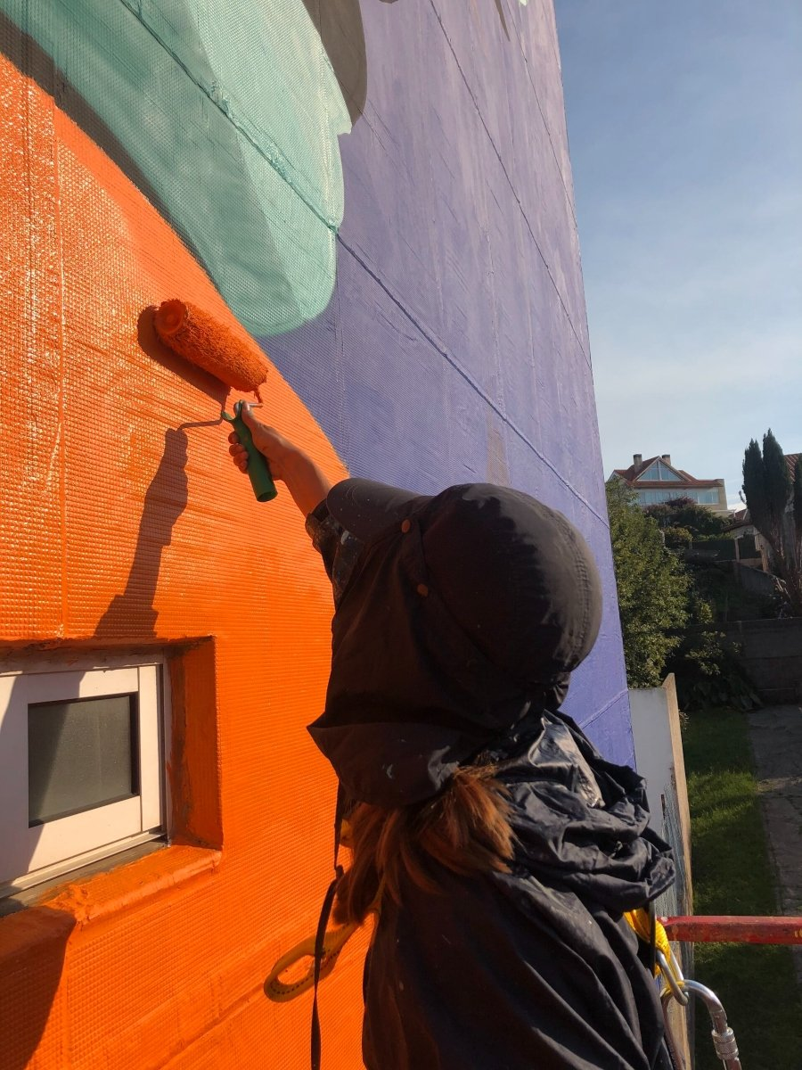"Mural ""Anhelo"" por Sabek"