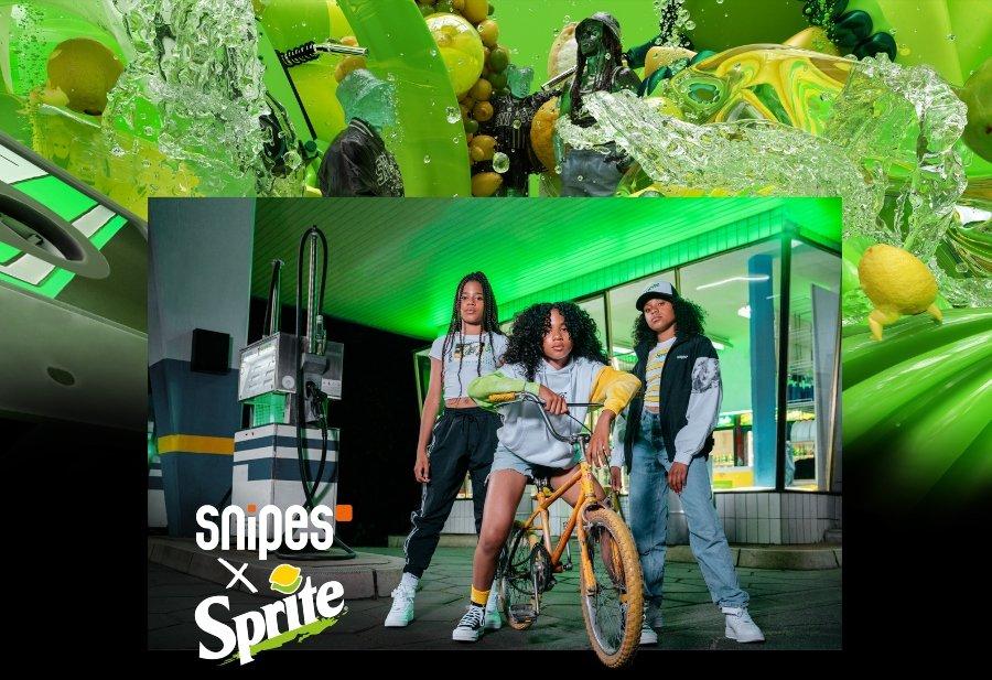 Lookbook oficial de la colección de Snipes y Sprite