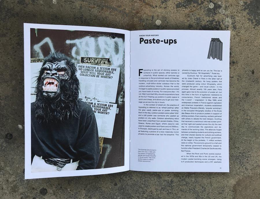 """Contenido de """"The Street Art Manual"""""""