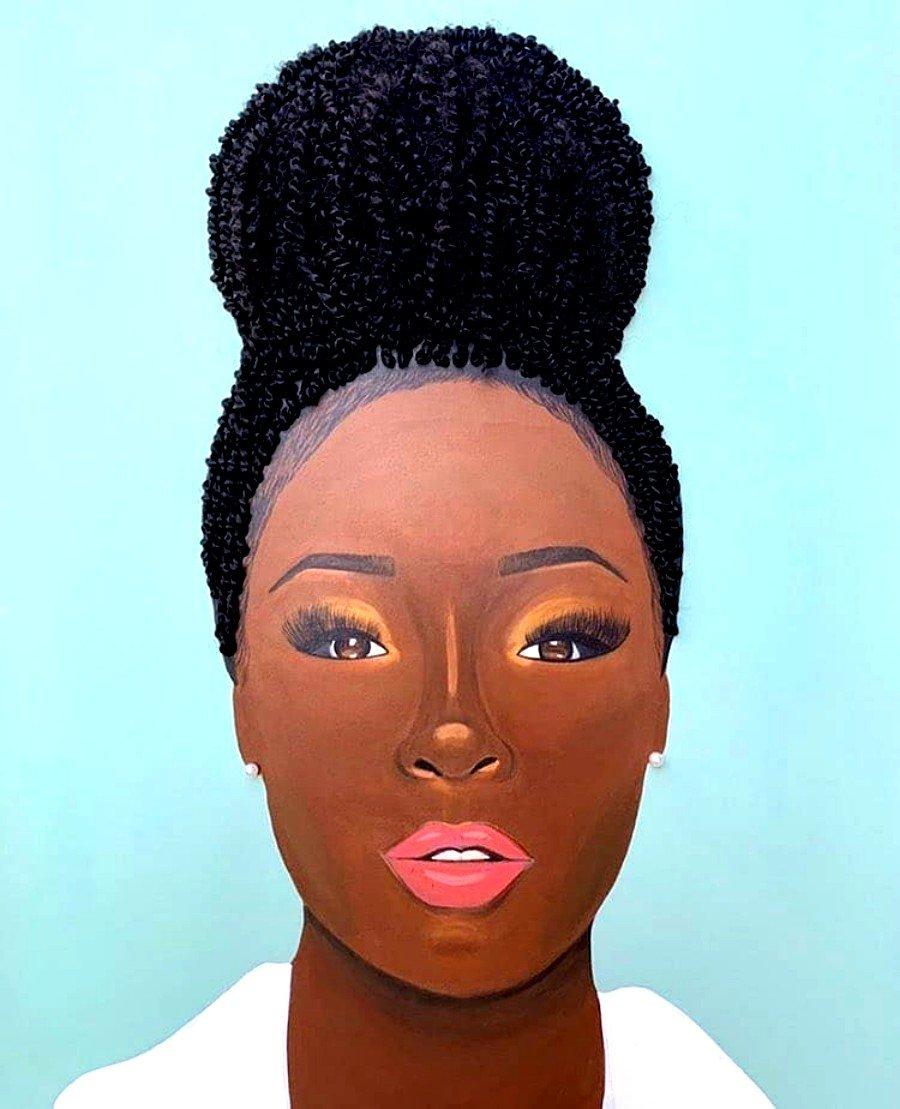 Obra de arte con cabello real por Tyler Clarck