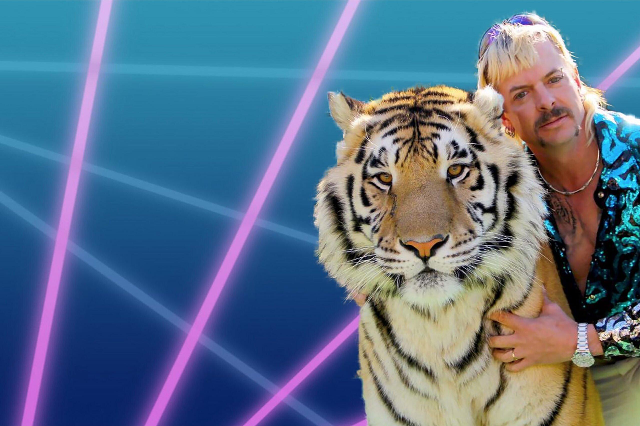 imagen de tiger King con un tigre