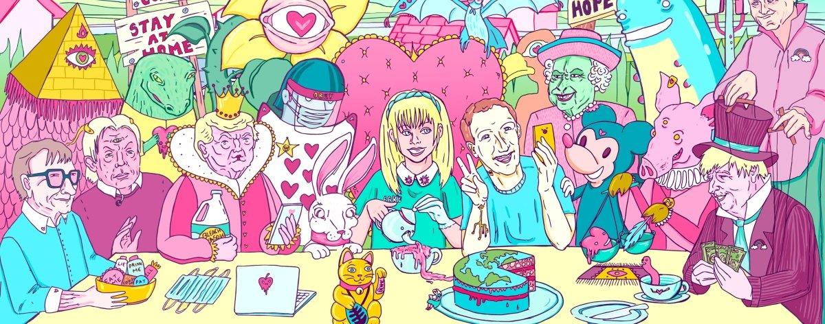 Alice in Lockdown, cuarentena ilustrada por Marta Zubieta