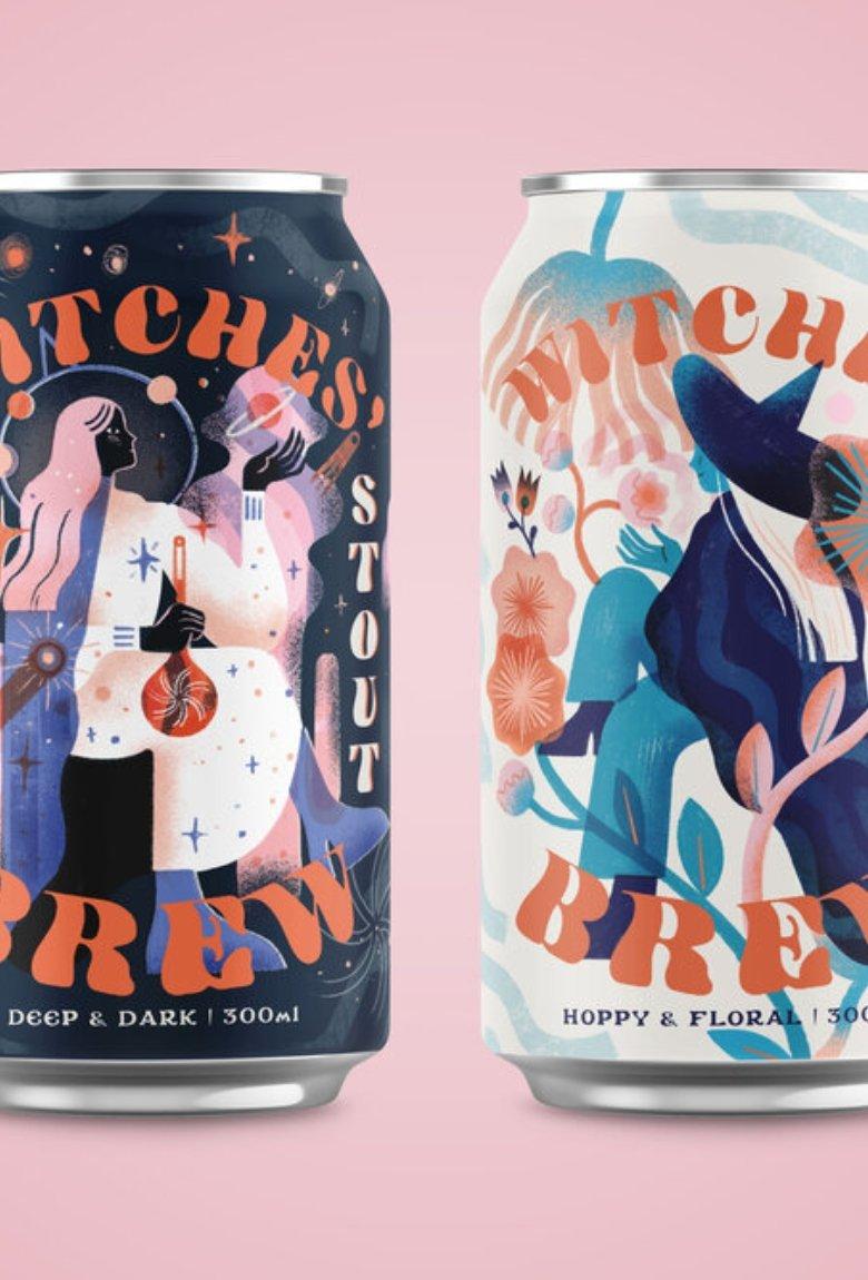 Cerveza para brujas, diseños de Vanessa Lovegrove