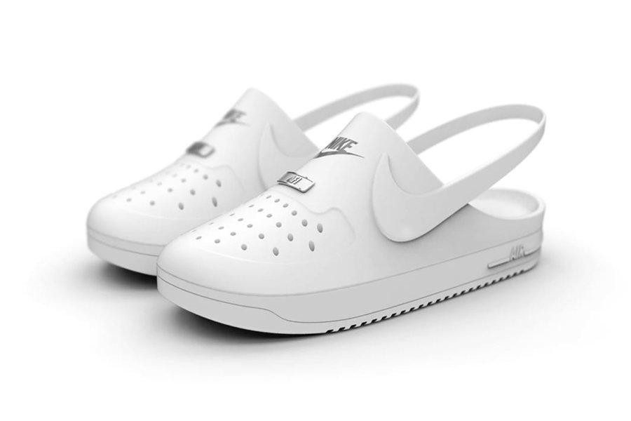 ASpecto delas crocs x Nike Air Force 1 de Kegan McDaniel