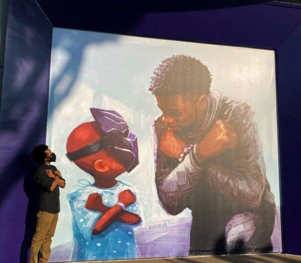Mural en homenaje a Chadwick Boseman