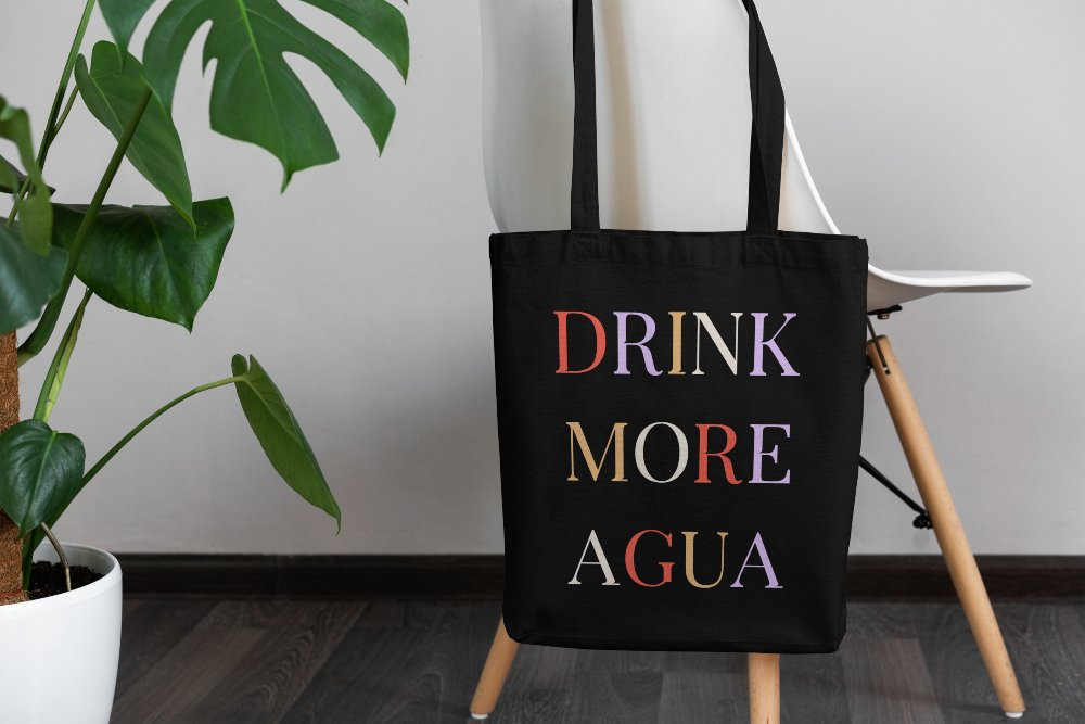 Drink More Agua Tote bag