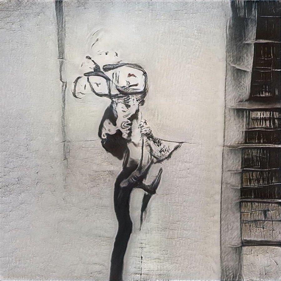 Pieza de street art creada a partir de IA