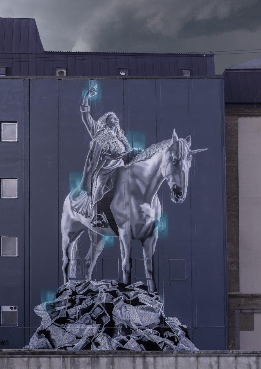 JDL Street Art creó mural en Holanda