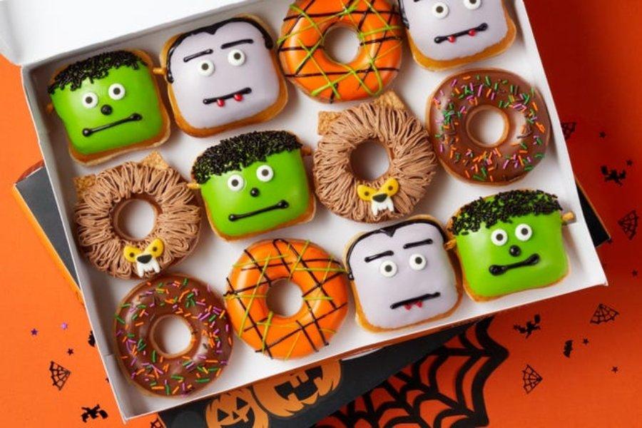 Donas edición Halloween por Krispy Kreme