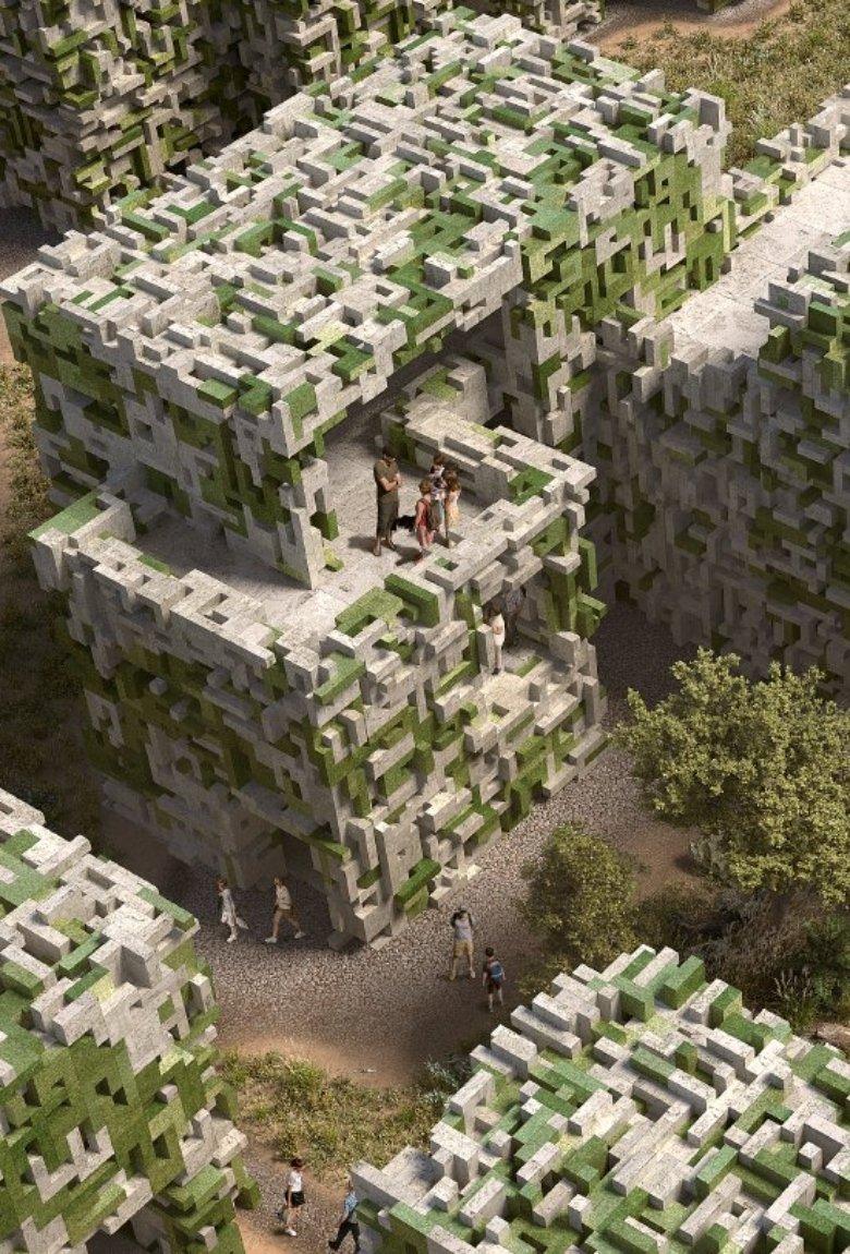 Aldea ecológica hecha de algas, el futuro de la arquitectura