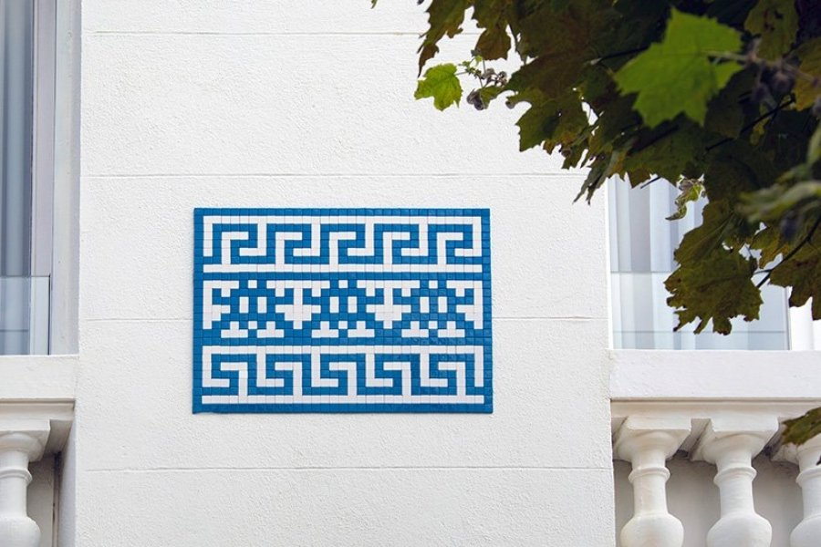 Los mosaicos del artista francés llega a Marsella