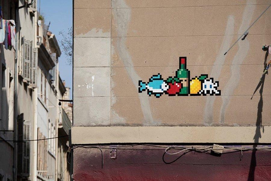 """Mosaico de la serie """"Invader was Here"""""""