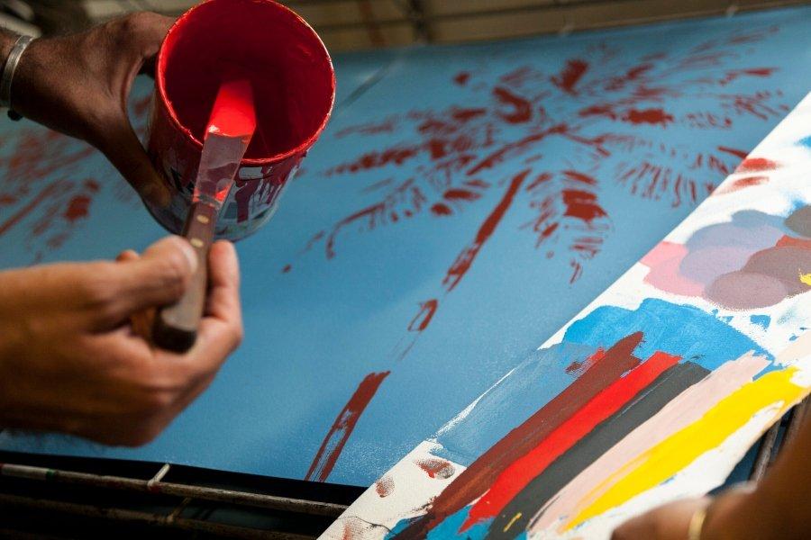 Proceso de creación del artista ítalo-japonés
