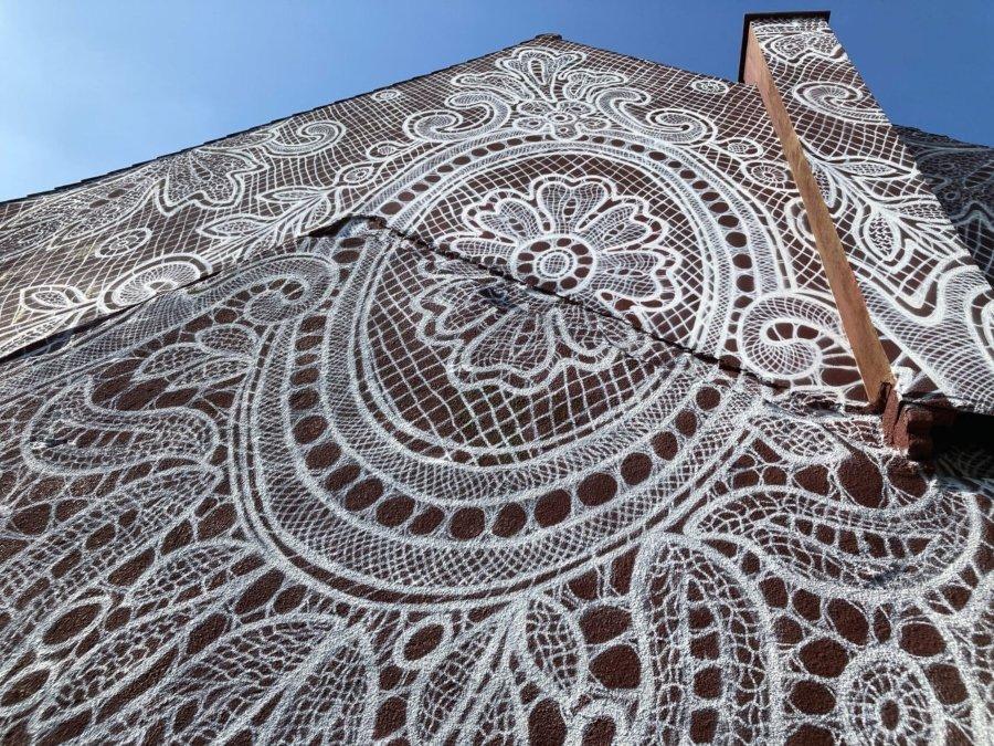 Graffiti en forma de encaje