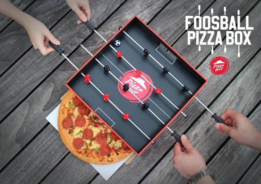 Caja futbolito para pizza