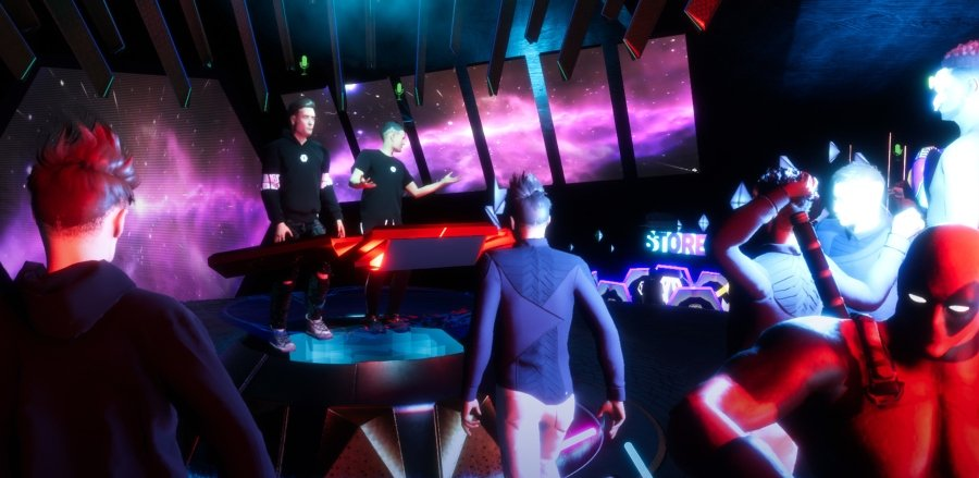 Aspecto de Sansar en un concierto virtual