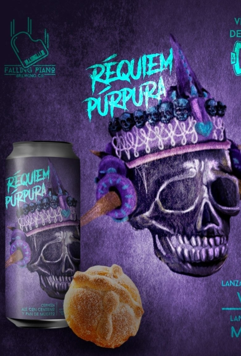 Réquiem Púrpura, la cerveza de pan de muerto