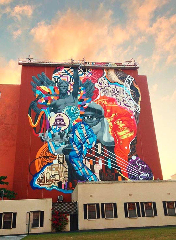 Mural por el artista norteamericano