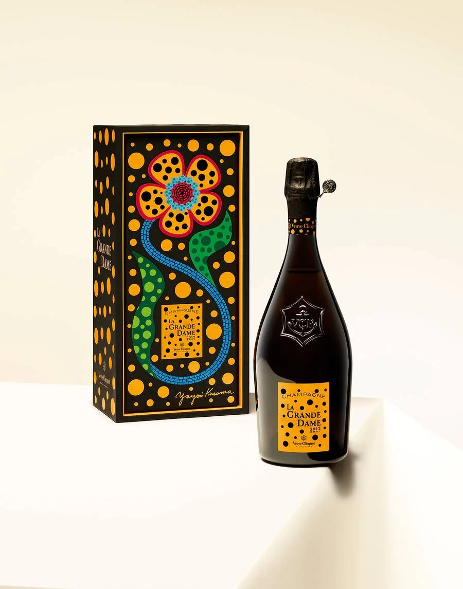 Botella de edición especial entre Veuve Clicquot